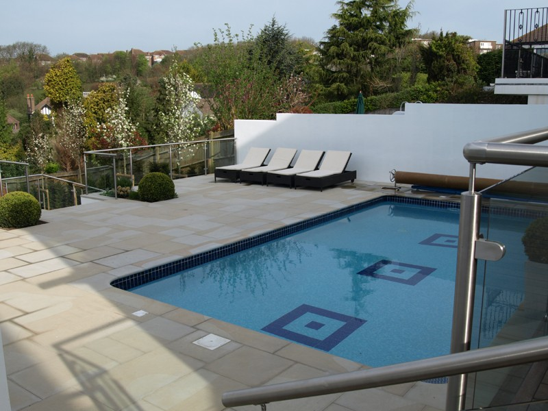 New terrace and pool copings