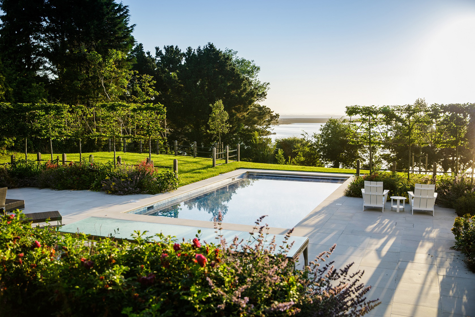 Swimming pool in Jersey garden
