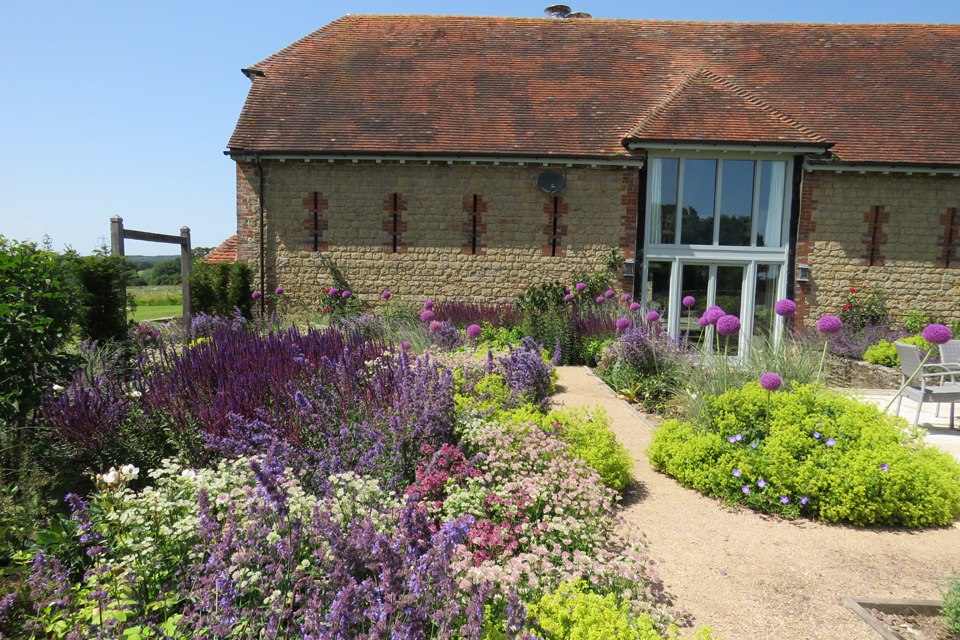 Herbaceous planting around Sussex Barn