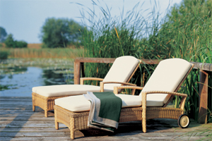 Garpa sun loungers on a deck