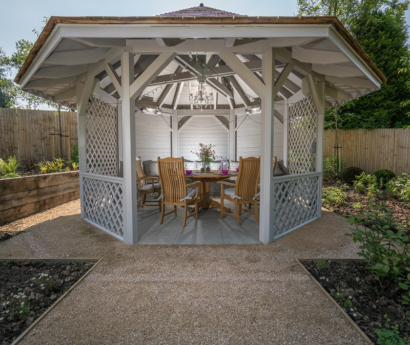 The Gazebo with chandelier, heating and a sound system