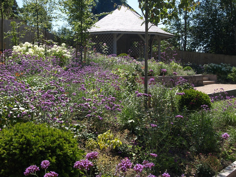 Great swathes of herbaceous planting