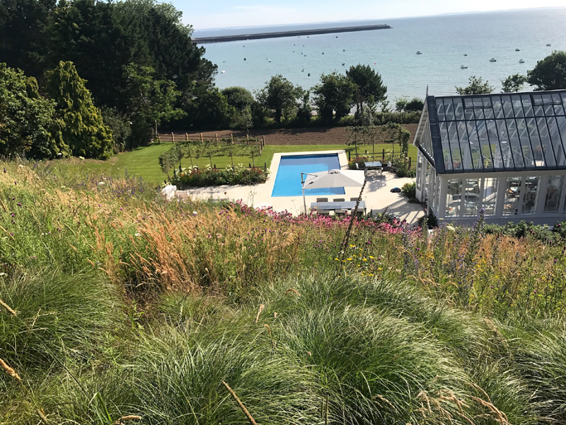 Swathes of grasses and herbaceous in late summer