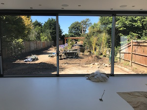 The view from the new extension doors